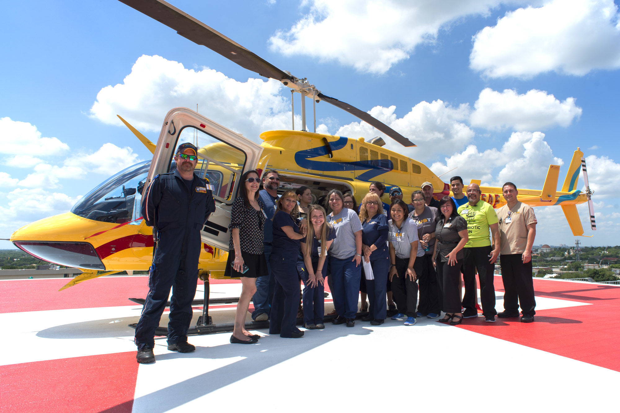 Emergency Services Helipad Metropolitan Methodist Hospital THW Design
