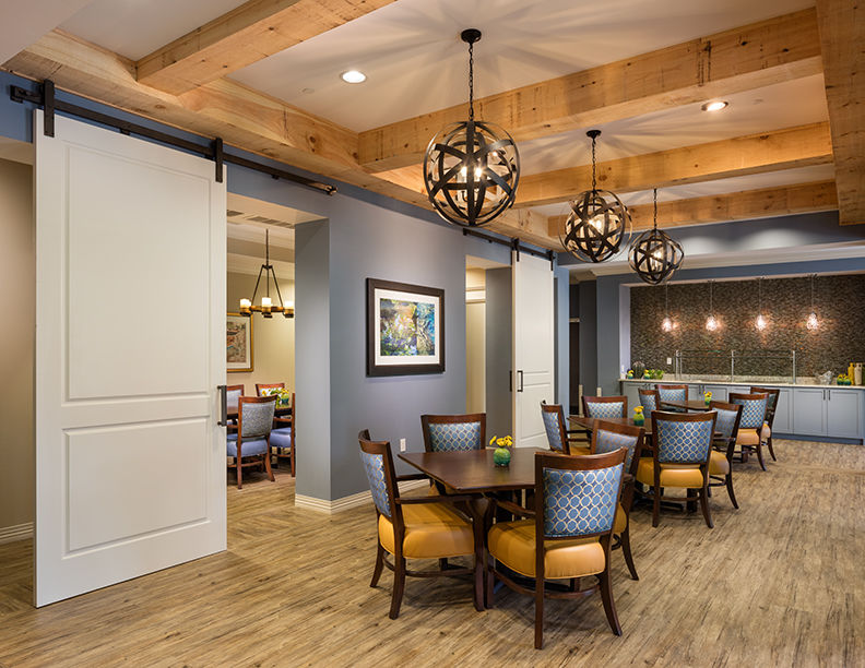 The Glen at Lake Oconee Dining & Private Dining Senior Living Design Interior Designers