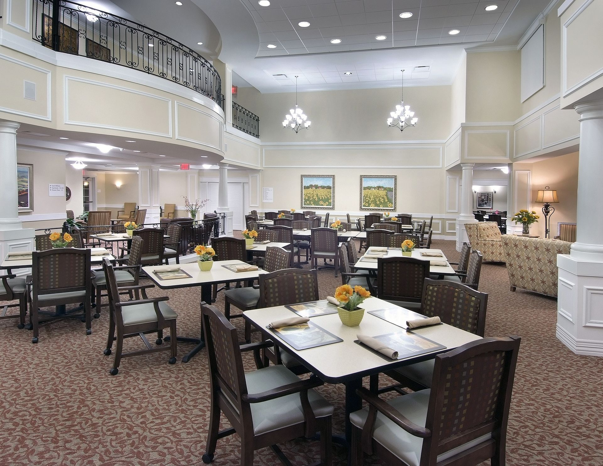The Oaks of Louisiana CCRC THW Design Casual Dining
