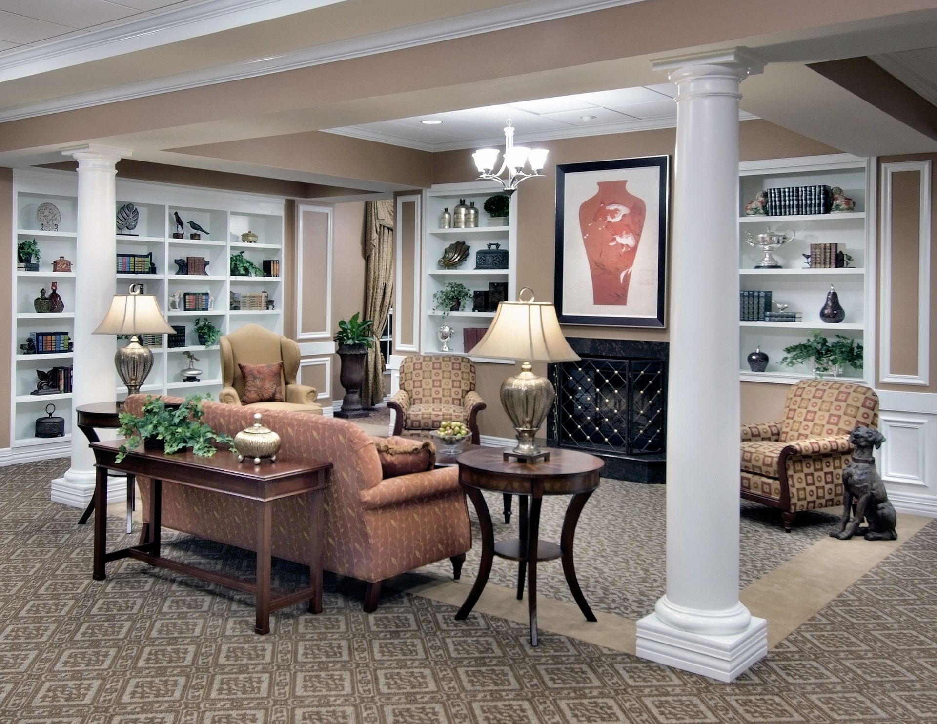 The Oaks of Louisiana CCRC THW Design Living Area