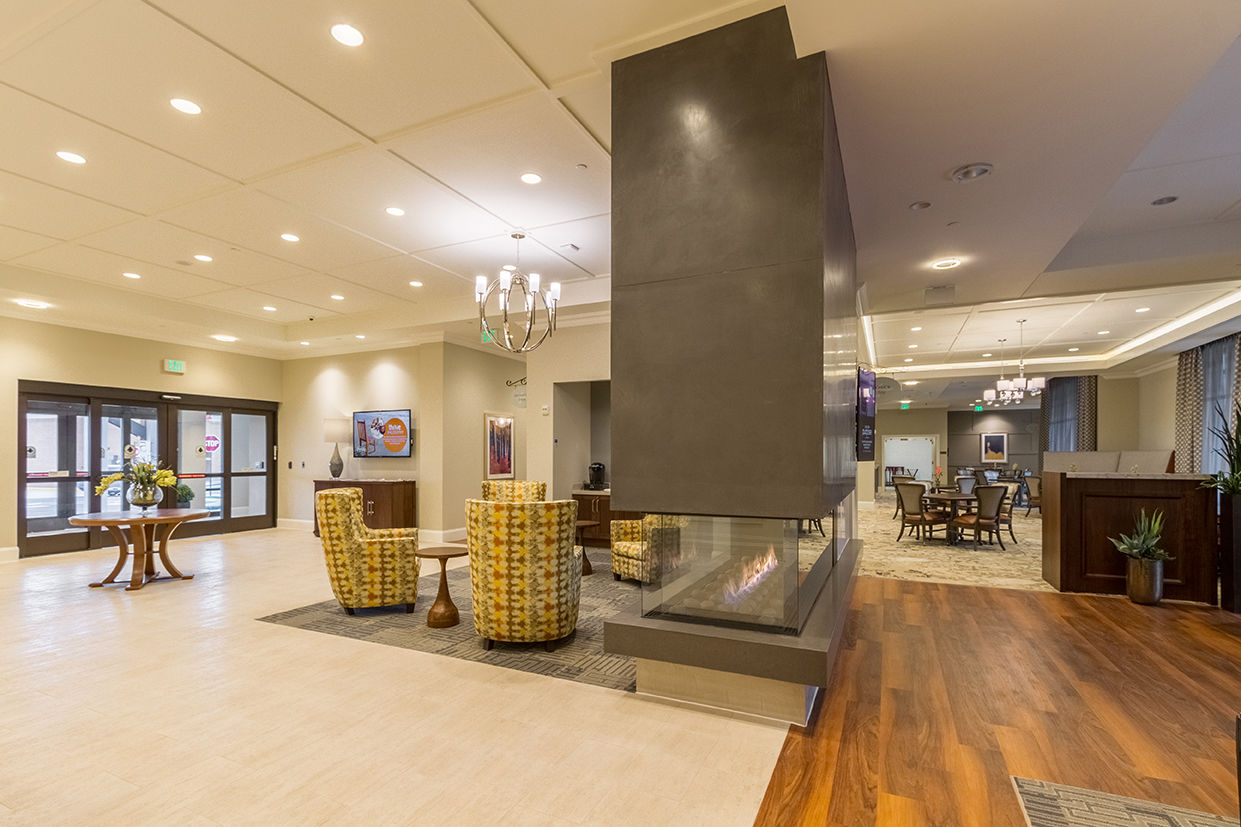 Tribute Glen Lobby THW Design Memory Care