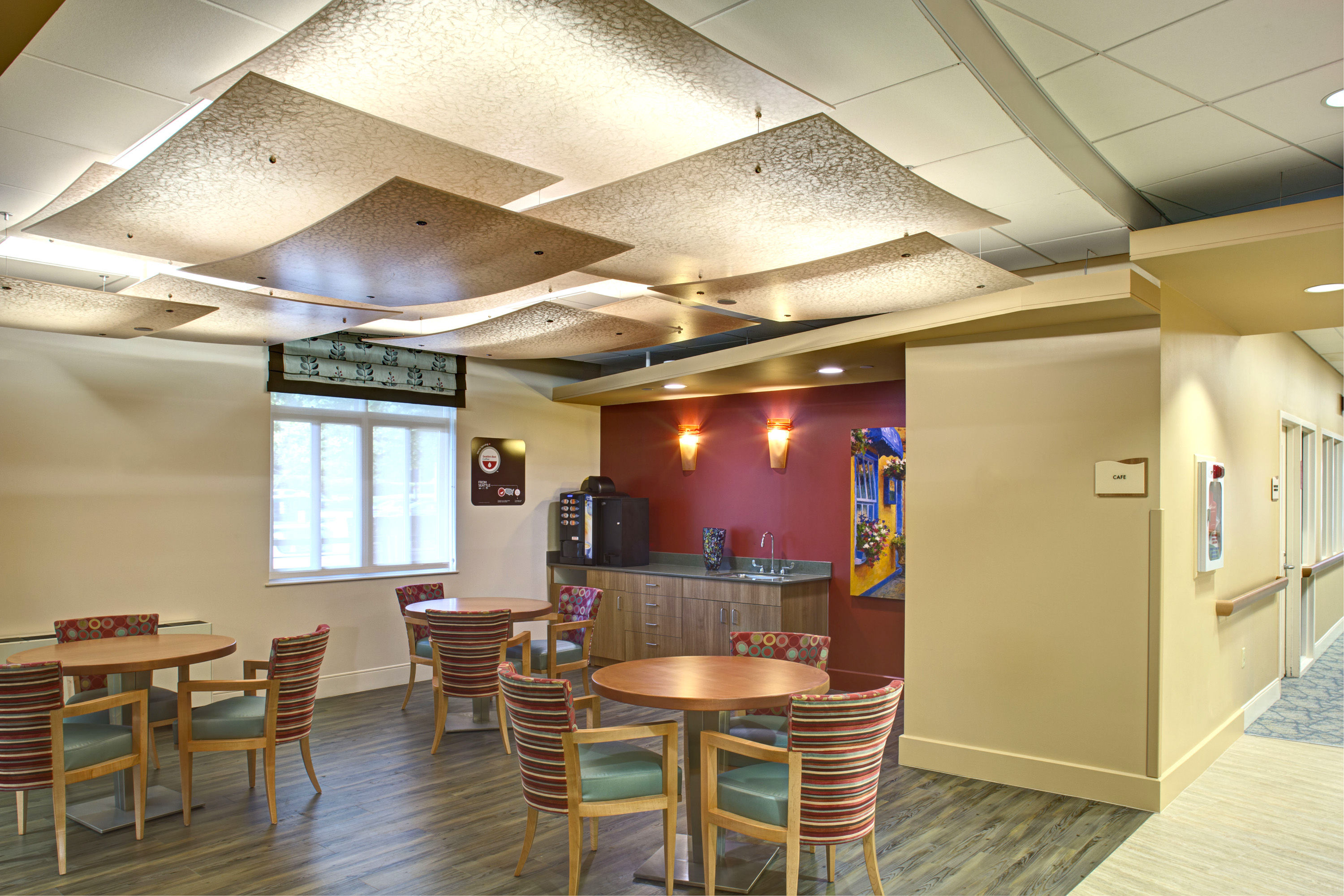 Wasserman Residence Physical Therapy/Rehabilitation Center Senior Living Healthcare Design Cafe